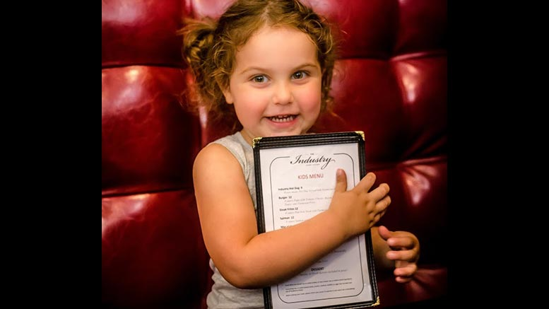 The Industry, little girl with menu