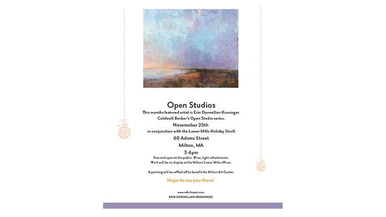 Erin Donnellan-Kroninger open studios in Milton