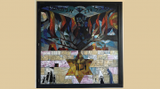 Holocaust window installation at Beth Shalom