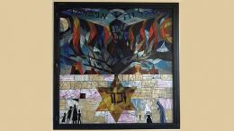 Holocaust window installation at Beth Shalom