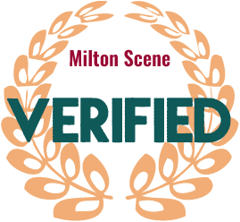 Milton Scene verified business emblem badge