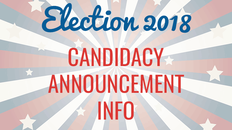 election candidacy announcement info
