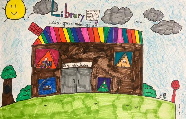 "Gallery: Milton 3rd graders participate in ""Local Government"" art contest"