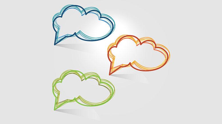talk thought bubbles, conversation