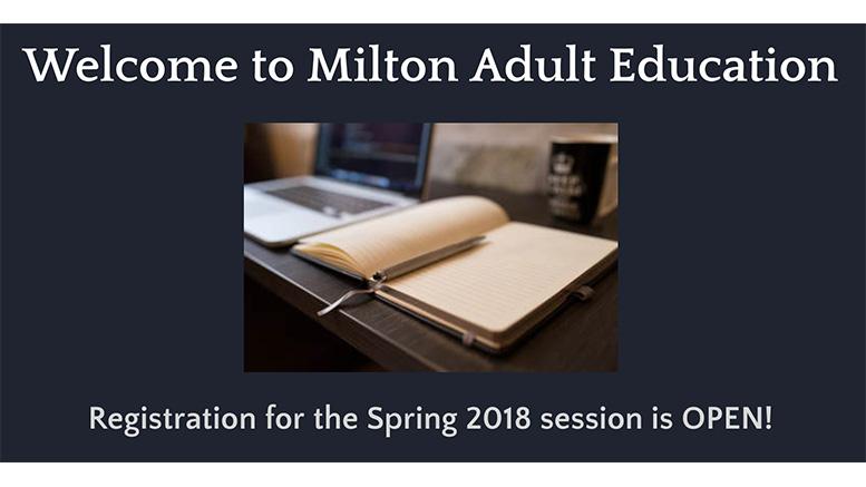 Milton Adult Education 2018
