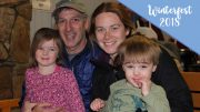 The Glass family enjoys Winterfest