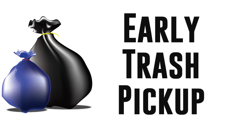 Early Trash Pickup Milton DPW