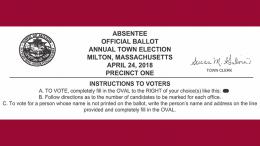 View the 2018 Town of Milton sample ballot