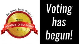 Milton Neighbors Choice Awards, by the Milton Scene, 2018