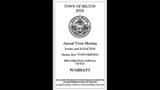 May 2018 Milton Town Warrant