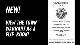 May 2018 Milton Town Warrant