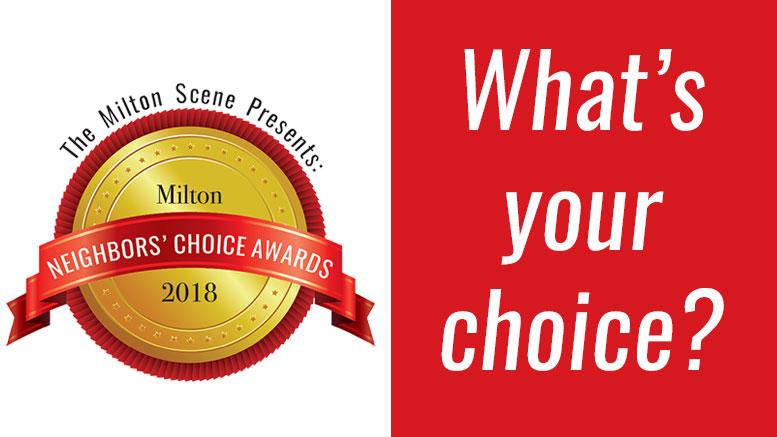 Milton Neighbors Choice Awards, by the Milton Scene, 2018