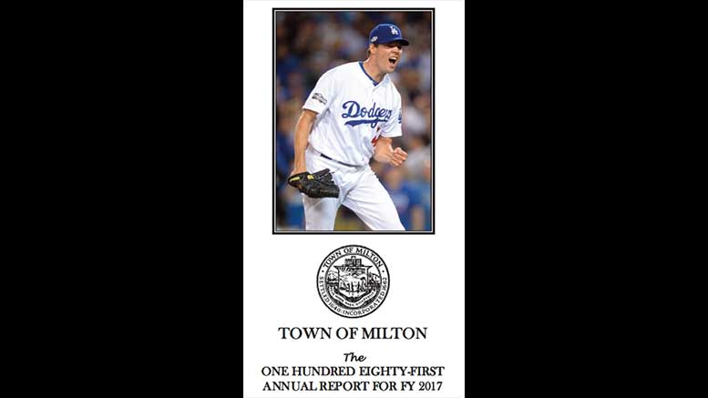 FY 2017 Milton Annual Town Report features Rich Hill