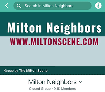 Milton Neighbors facebook group