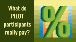 What do Milton's PILOT participants really pay?