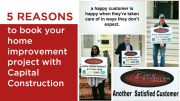 5 Reasons to book your home improvement project with Capital Construction