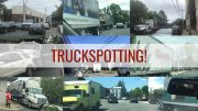 truckspotting, trucks and parking and traffic in East Milton square