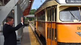 "Rep. Dan Cullinane urges"" keeping the Mattapan Trolley on the tracks"" with petition"
