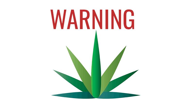 marijuana warning