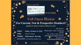 Milton Junior Woman's Club Open House