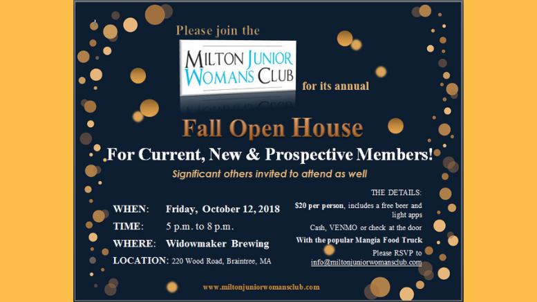 Milton Junior Woman's Club Open House