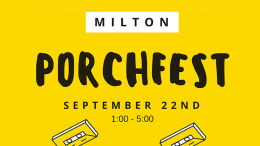 Milton Porchfest to take place September 22