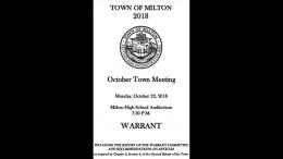 Milton town meeting warrant