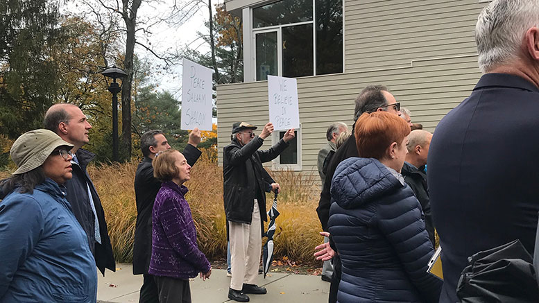 gathering of support at Beth Shalom in Milton