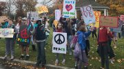 "Pierce Middle School Student Council ""March for Peace."" Photo by Doug Scibeck."