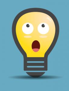 shocked lightbulb