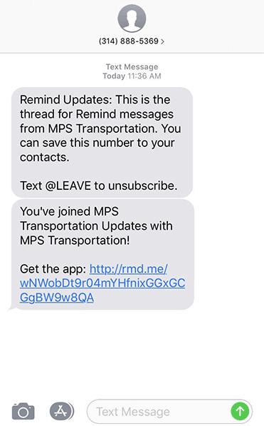 Milton Public Schools announces text message notification system for bus service interruptions and delays