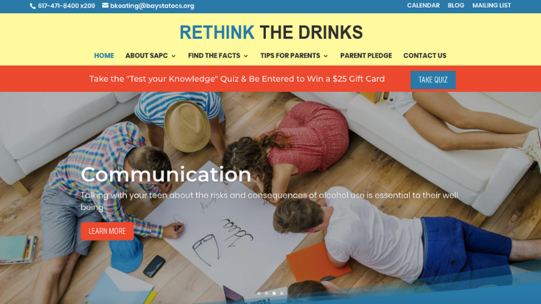 Rethink the Drinks website