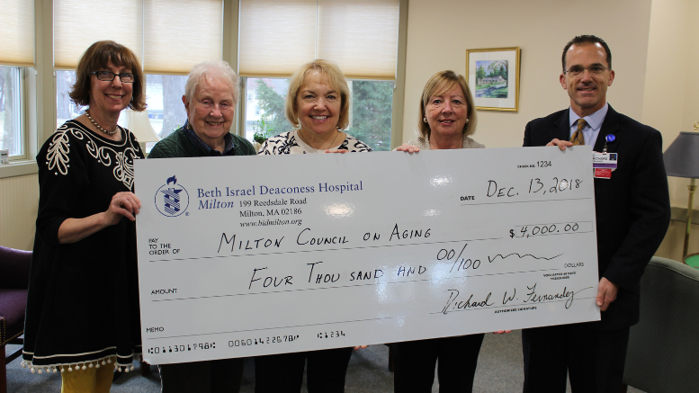 Beth Israel donates $4,000 to Milton Council on Aging