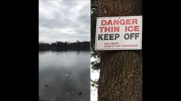Milton Police Department warns residents of dangers of skating on Turner's Pond