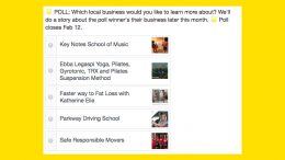 Vote on the February business you'd like to learn more about!
