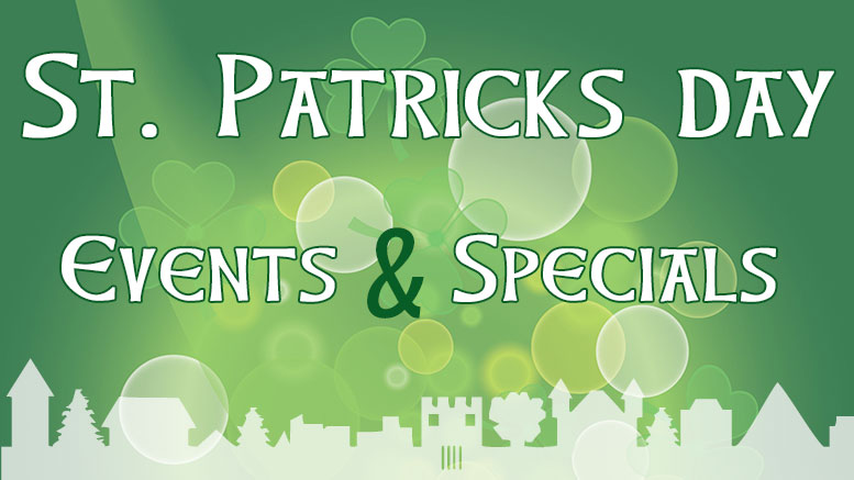 St. Patrick's Day events & specials listings for Milton Neighbors