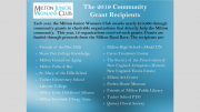2019 MJWC grant recipients