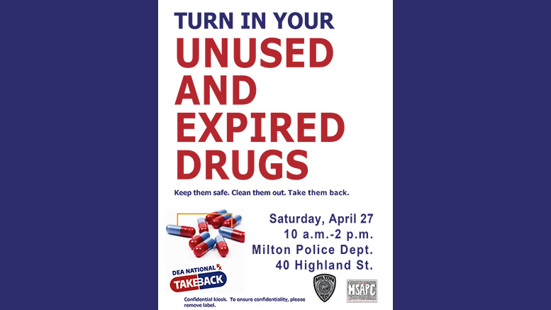 Turn in your used and expired drugs