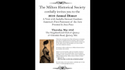 Milton Historical Society annual dinner