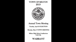 View the May 6, 2019 Milton Town Meeting Warrant