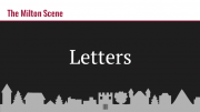 Milton Scene Letters to the Editor