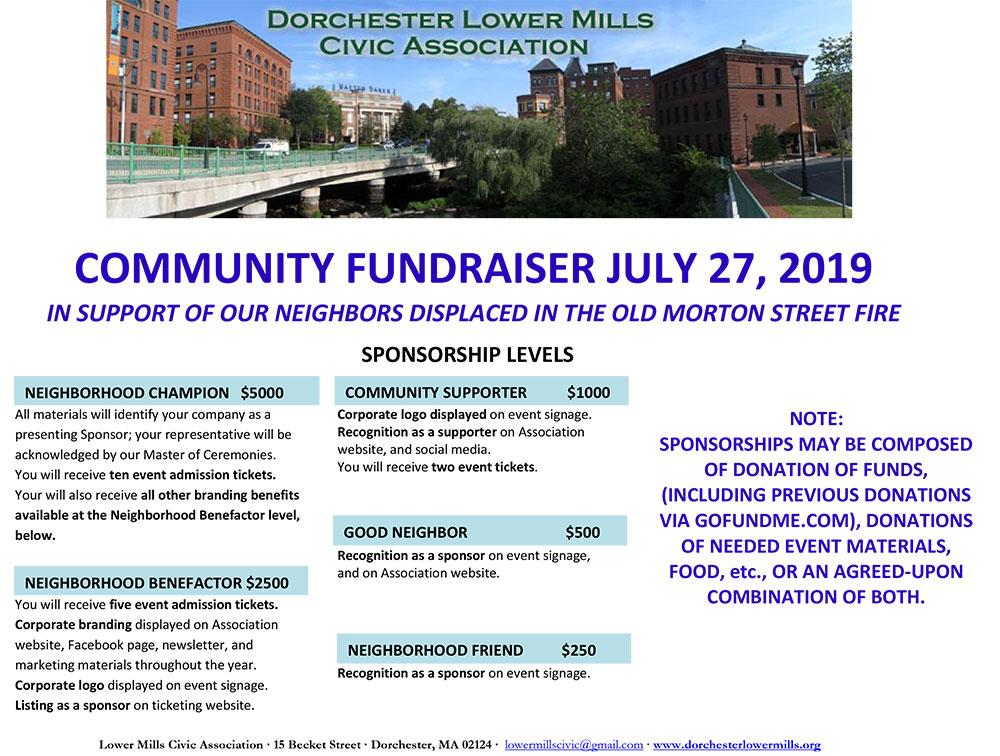 Lower Mills Civic Association Community FUndraiser