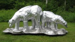 Sculpture making at Eustis Estate