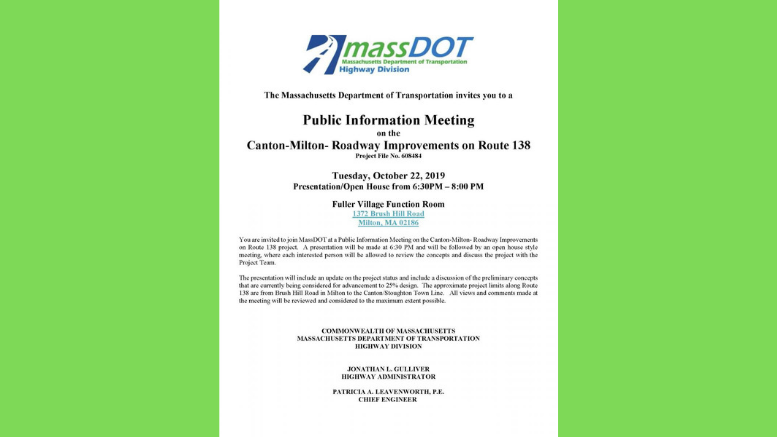 MassDOT meeting
