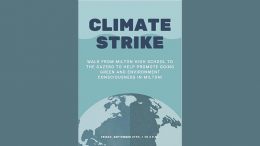 Milton High School Earth Club to host climate strike on Sept. 27