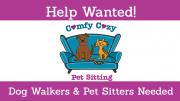 comfy cozy pet sitting job posting