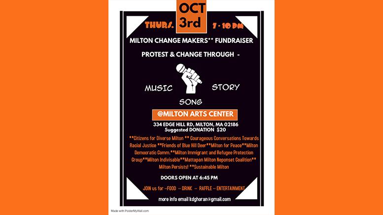 Milton Change Makers Fundraiser October 3rd, 2019 at Milton Art Center