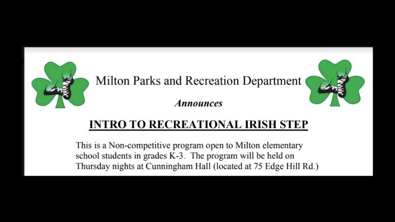 Milton parks & Rec Irish Step 2020