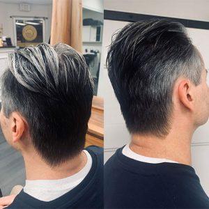 Gervasi & Co hair pic - man silver brown haircut