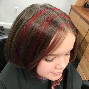 Gervasi & Co hair pic - red streaks in brown hair